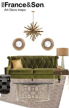 Art Deco Living Room Decor #artdeco