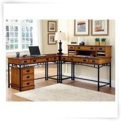 home styles modern craftsman corner l shaped desk with optional mobile file carruca desk office