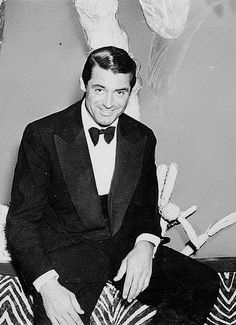 Cary Grant photographed at the El Morocco nightclub in Manhattan, c. early 1940s.