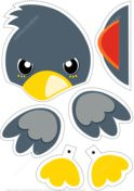 Paper Bird Toy to Cut Out and Play Paper craft