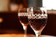 Bunzlau Castle Crystal wine glass Precious Pearls