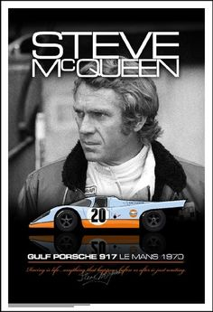Steve McQueen Porsche 917 Lemans movie 1970 poster makebigdaddyrich.biz
