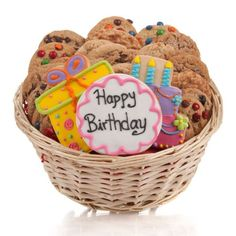 Happy Birthday Cookie Gift Basket - 24 PC. by Lady Fortunes -- Awesome products selected by Anna Churchill