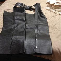 """Selling this """"Black motorcycle riding leTher chaps"""" in my Poshmark closet! My username is: katydid49. #shopmycloset #poshmark #fashion #shopping #style #forsale #Silver Bike #Other"""
