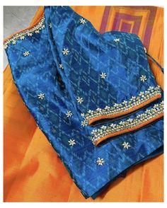 Hand Work Blouse Design, Simple Blouse Designs, Stylish Blouse Design, Fancy Blouse Designs, Blouse Neck Designs, Blouse Patterns, Sarees, Kutch Work, Kamiz