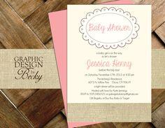 Burlap Baby - Printable Baby Shower Invitations. $15.00, via Etsy.