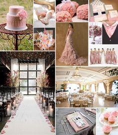 elegant pink peach wedding inspiration