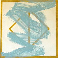 Joseph Haske, Ocher + Blue 2012, acrylic and marble dust on paper