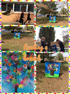 This fun, colourful & interactive work was the brain child of Isabel.  Together with Julia's help they created and brought to life this large work. Great work girls.