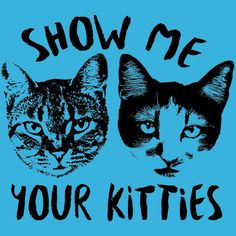 Show Me Your Kitties Cat Funny T-Shirt Animal Loves Textual Tees