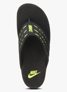Buy Nike Keeso Thong Black Slippers for Men Online India a7de225869cd