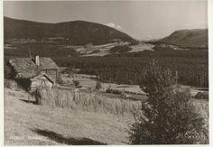 Oppland fylke Dovre kommune  Utsikt over Dombås. Utg Harstad 1950-tall