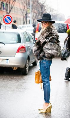 Laetitia et son dressing - Ready for winter - fur coat