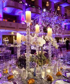Gorgeous centerpieces at the @Waldorf Photographic Art Photographic Art Astoria New York  Grand Ballroom.