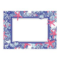 lilly pulitzer correspondence cards - set of 10 - she she shells
