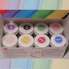Gelové barvy Wilton - sada 8 kusů