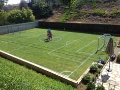 Mini Soccer Field in the backyard.!!!!