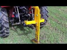 ▶ Single tine ripper with pipe laying attachment demo - YouTube