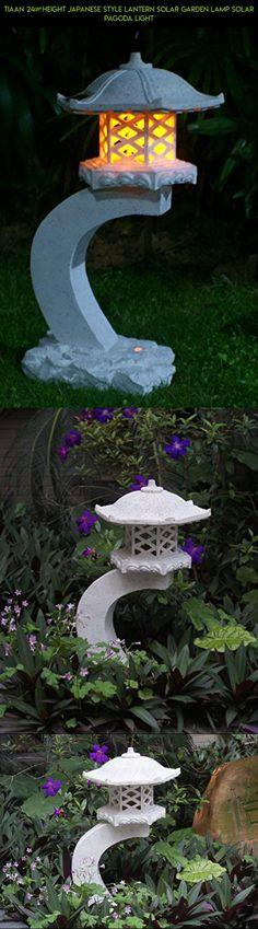 "TIAAN 24""height Japanese style lantern Solar garden lamp Solar pagoda light #parts #outdoor #decor #technology #products #gadgets #japanese #garden #plans #racing #kit #tech #shopping #drone #fpv #camera"