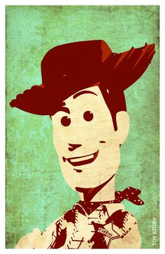 "Toy Story - Woody Minimalistic Poster 11""x17"""