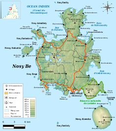 Carte de Nosy Be et son archipel