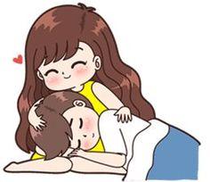 Boobib Cute Couples (für Mädchen) - LINE Aufkleber - Entertainment Cute Chibi Couple, Love Cartoon Couple, Cute Couple Comics, Cute Love Cartoons, Cute Love Couple, Anime Love Couple, Cute Anime Couples, Cute Love Pictures, Cute Cartoon Pictures
