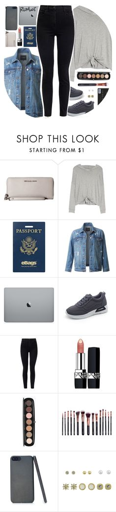 """""""It's Time For A New Adventure!"""" by lana-baloley ❤ liked on Polyvore featuring Michael Kors, Beyond Yoga, eBags, LE3NO, J Brand, Christian Dior, Marc Jacobs, M.O.T.D Cosmetics, contestentry and polyPresents"""