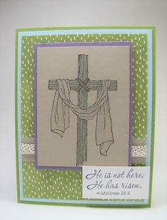 He is Risen - Maddiebug Designs - Occasions 2017, Stampin' Up!, Easter Message