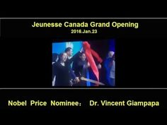 Dr Vincent Giampapa Speech on Jeunesse Canada Grand Launch 2016