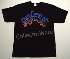 GENESIS band logo 2 CUSTOM ART UNIQUE T-SHIRT  Each T-shirt is individually hand-painted, a true and unique work of art indeed!  To order this, or design your own custom T-shirt, please contact us at info@collectorware.com, or visit  http://www.collectorware.com/tees-genesis_andrelated.htm
