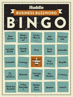 Buzzword Bingo Buzzword Bingo, Co Working, Fails, Let It Be, Words, Business, Recipes, Make Mistakes, Store