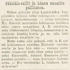 SKS vuotuisjuhlat. Pääsiäinen. Tapio 15.4.1871 Math Equations