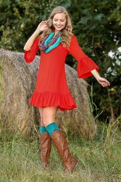 Big News Dress-Pumpkin Spice