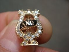 Alpha Chi Omega, Date Unknown, 24 Diamonds, Yellow Gold