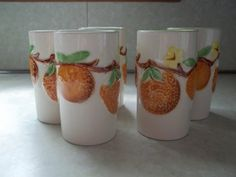 Vintage Set of 6 Juice Glasses by TheHoneysuckleTree on Etsy, $12.00