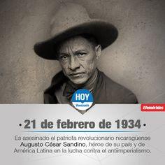 #UnDíaComoHoy es asesinado el patriota revolucionario nicaragüense Augusto César Sandino, héroe de su país y de América Latina en la lucha contra el antiimperialismo.
