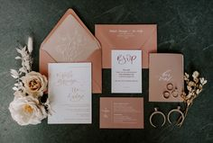 Romantic Blush and Ivory Wedding at Home in Boise, Idaho (Junebug Weddings) Simple Wedding Invitations, Floral Wedding Invitations, Wedding Stationary, Wedding Invitation Cards, Wedding Cards, Invitation Kits, Invites, Invitation Card Design, Invitation Wording