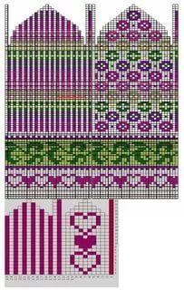Knit Mittens, Mitten Gloves, Knitting Socks, Knit Socks, Knitting Charts, Knitting Stitches, Knitting Patterns, Crochet Skirts, Fair Isle Knitting