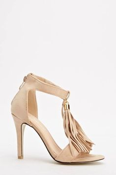 Womens Ladies Beige High Heel Tassel T-Bar Sandals Shoes Size UK 4,5,6,7,8 New  Click On Link To Visit My Ebay Shop http://stores.ebay.co.uk/all-about-feet  Useful Info:  - Standard Size - Standard Fit - By Top Or - Beige In Colour  - Heel Height: 4 inches - Back Zip Fastening - Tassel Detail To The T-Bar - Faux Suede Upper #shoes #sandals #beige #highheels #highheel #tbars #tasssels #fashion #footwear #forsale #womens #ladies #ebay #ebayseller #ebayshop #ebaystore