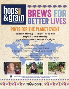 Come to Brews For Better Lives at Hops and Grain and try a new tea beer, a chocolate beer and a coffee beer brewed with product from our partners Rishi Tea, Madécasse and Chameleon Cold Brew.   #Brews4BetterLives #craftbeer #Austin