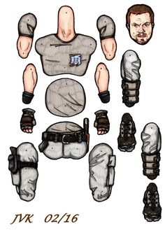 Jayne Cobb jointed paper doll. by MadunTwoSwords.deviantart.com on @DeviantArt