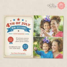 Fourth of July Mini Sessions Photoshop by StudioStrawberry on Etsy