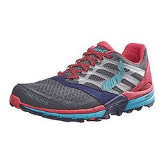 Inov-8 2017 Women's Trailclaw 275 Trail Running Shoe - Grey/Navy/Pink/Blue - 5054167499 * Click image to review more details.