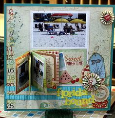 Scrapbook Page-layout, love small book on page