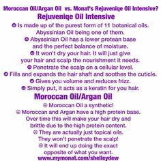 Monat's Rejuveniqe Oil vs Moroccan Oil /Argan Oil