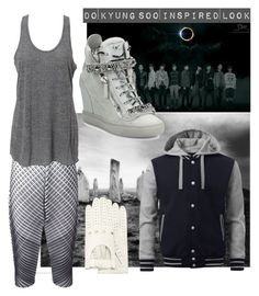 """History - D.O EXO"" by ruriiyy on Polyvore featuring Forzieri, Pleats Please by Issey Miyake, Simplex Apparel and Giuseppe Zanotti"