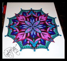 ColorIt Mandalas to Color Volume 1 Colorist: Cindy Colleen Roth #adultcoloring #coloringforadults #mandalas #mandala #coloringpages