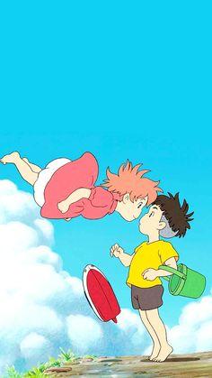 Studio ghibli,ponyo,hayao miyazaki Cosplay idea for child Studio Ghibli Art, Studio Ghibli Movies, Studio Ghibli Quotes, Hayao Miyazaki, Animes Wallpapers, Cute Wallpapers, Personajes Studio Ghibli, Studio Ghibli Background, Studio Ghibli Characters