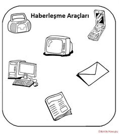 Haberleşme araçları Preschool Themes, In Kindergarten, Coloring Pages, Children, Appliances, Geography, Means Of Communication, Books To Read, Initials