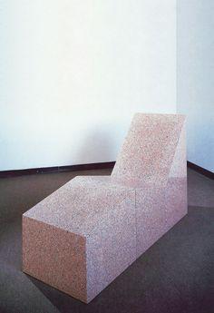Saatchi Gallery. Scott Burton. Chaise Longue 183/84 Rosa Baveno granite 3 parts, Overall: 105.4 x 61 x 170.2 cm